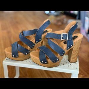 Korkease strappy block heels
